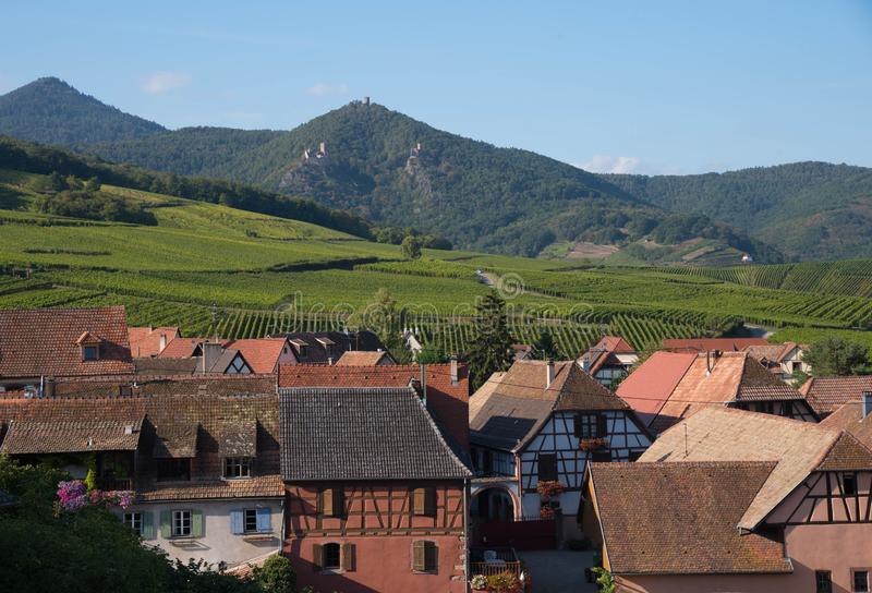 Village of Hunawihr in Alsace royalty free stock photography