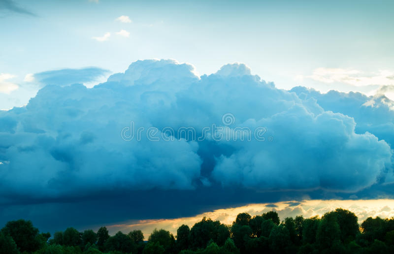 Download View Of Thunderstorm Clouds Stock Photo - Image: 31503664