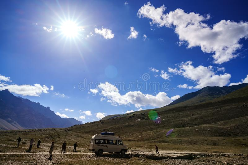 View from Tibet background royalty free stock photo