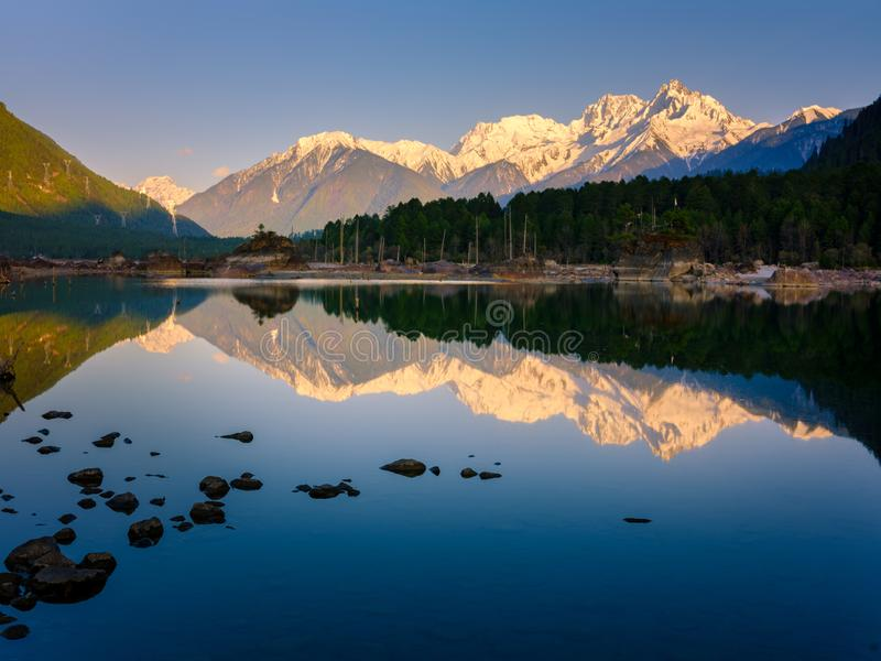 View from Tibet background stock image