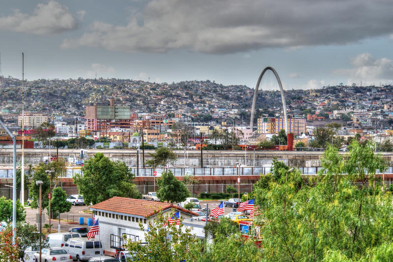 View of Tijuana city, Mexico royalty free stock photos