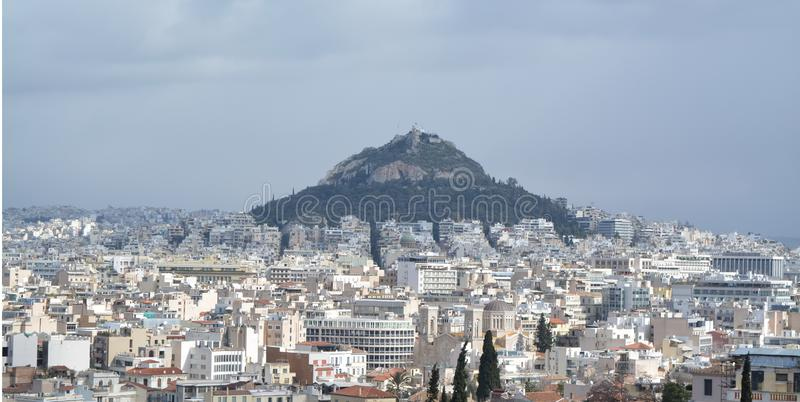 View to Athens from one of the hills royalty free stock photography