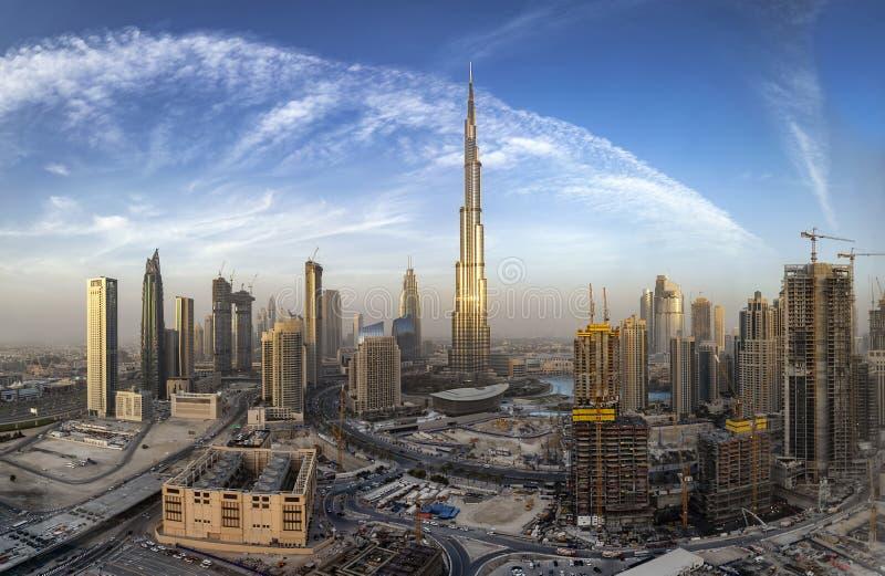 View to the Business bay of Dubai skyline, UAE royalty free stock photo