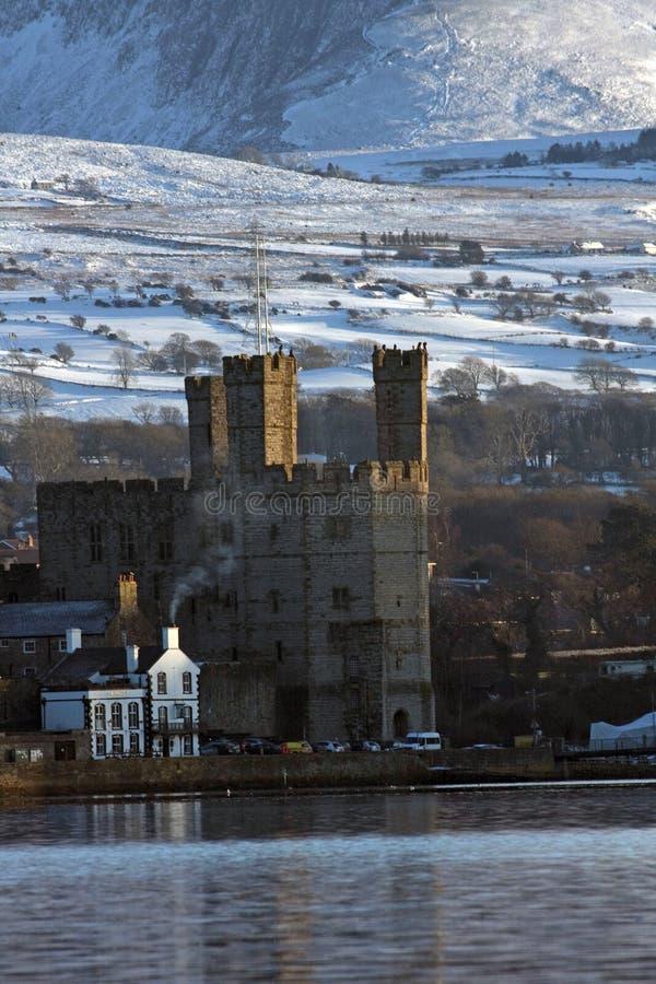 View to Caernarfon stock images