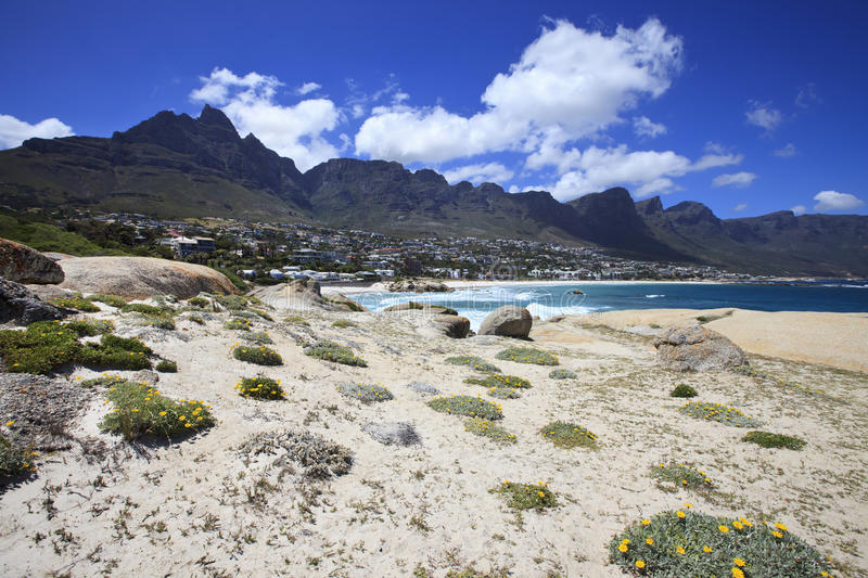 View to the Camps Bay, South Africa stock photo
