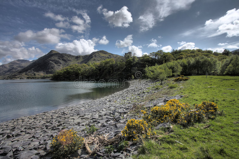 View to Castle Dolbadarn royalty free stock images