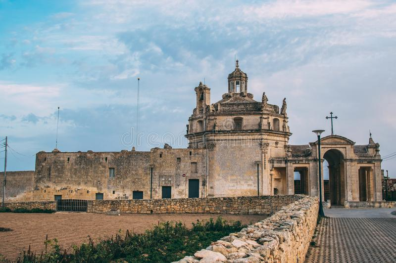 View to Church of Our Lady of Divine Providence. Malta stock photos