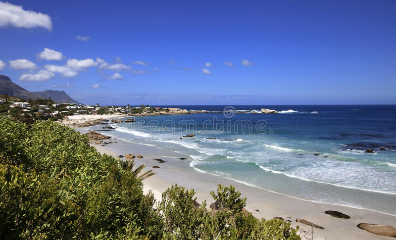 View to the Clifton Beach, Atlantic seaboard stock images