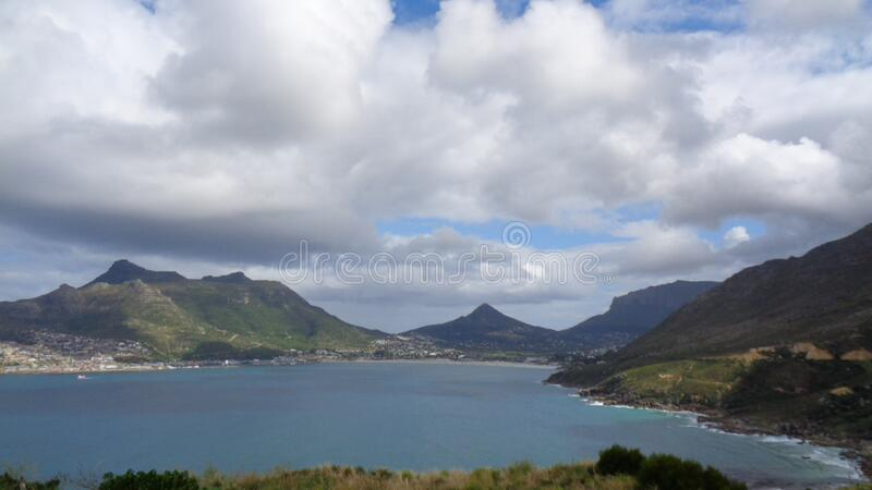 View to the coast line in south africa. At summer stock photo