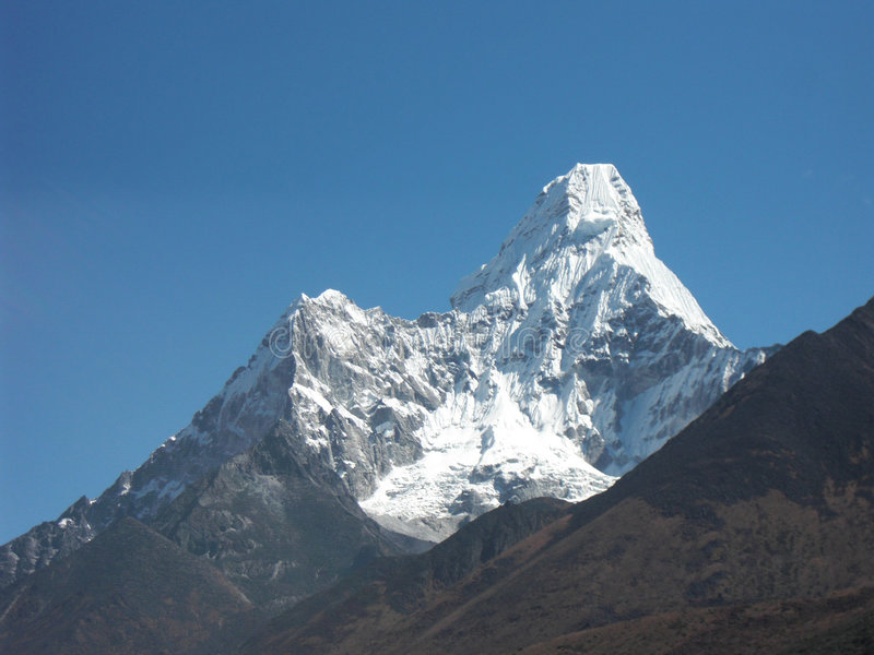 View to Everest stock photography