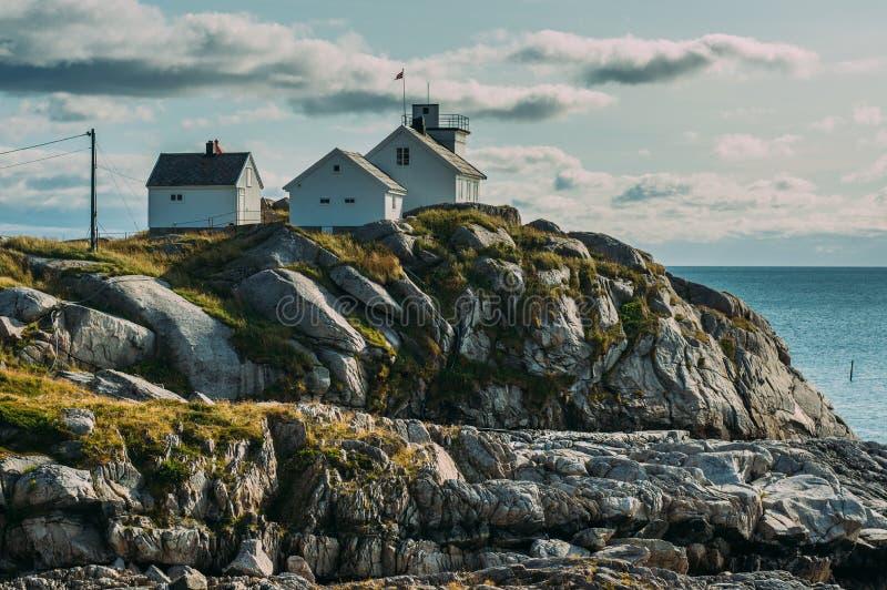 View to Henningsvaer, Lofoten Islands, Norway stock photography