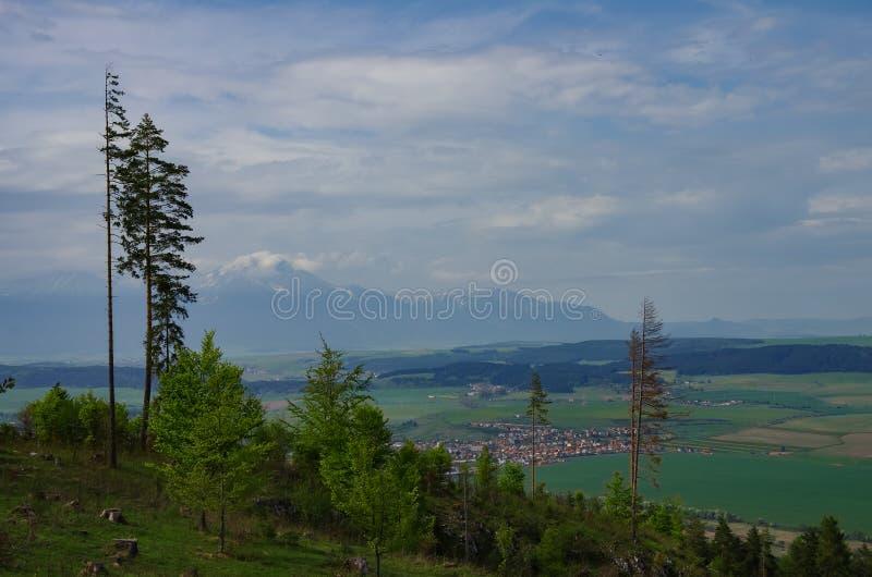 View to High Tatras mountains from Klastorisko in Slovak Paradise National Park. In Slovakia stock image
