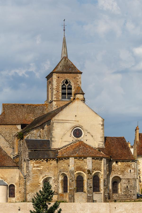 View to the historic centre of Avallon town. France stock photos