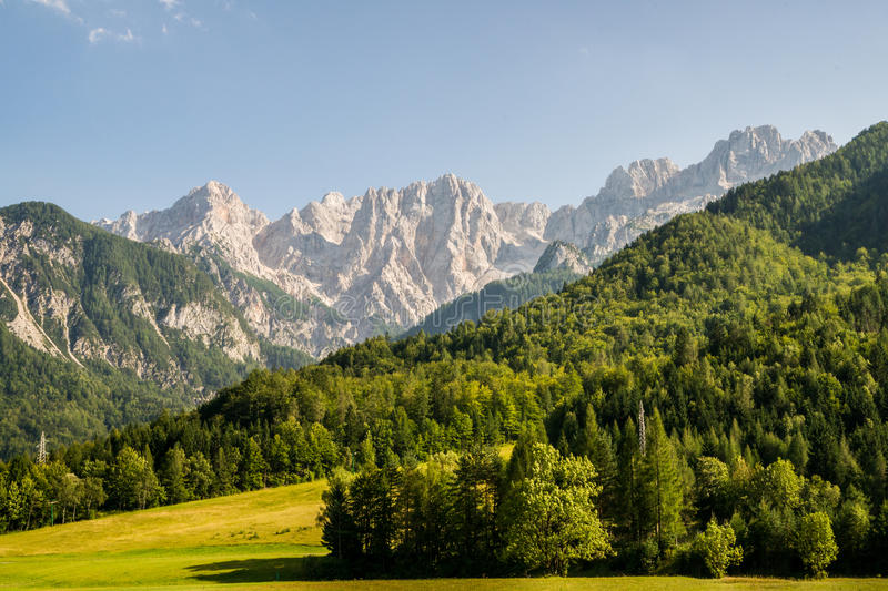 View To The Julian Alps Royalty Free Stock Photos