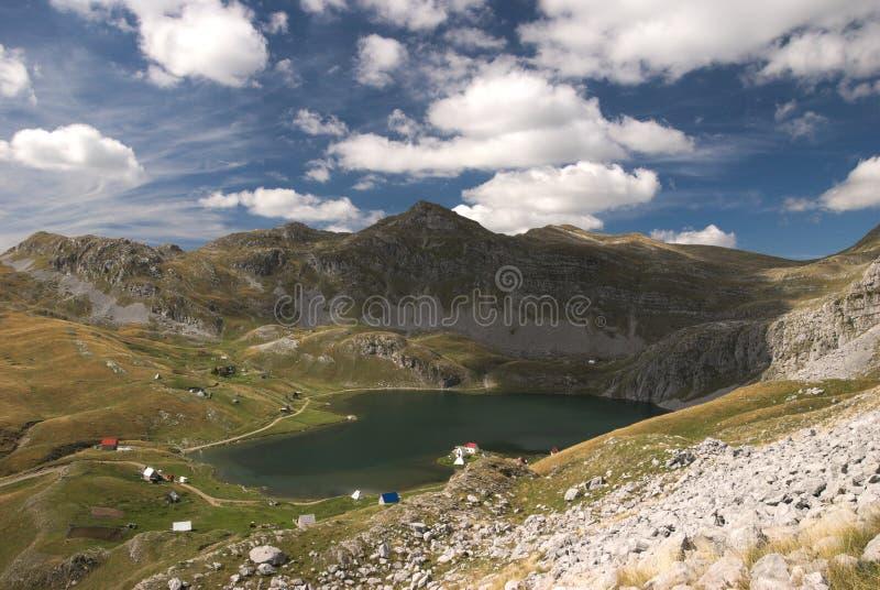 View to Kapetanovo lake , Montenegro stock photo