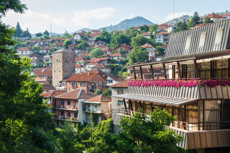 View to Kratovo small town stock image