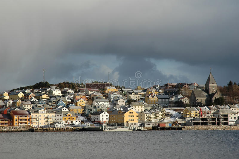 View to Kristiansund, Norway royalty free stock photography