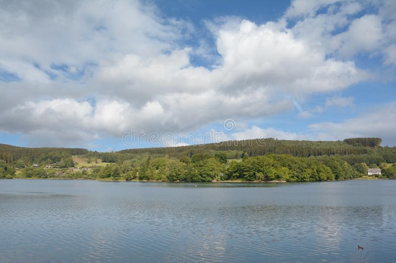 View to Listertalsperre Reservoir,Sauerland,Germany royalty free stock photography