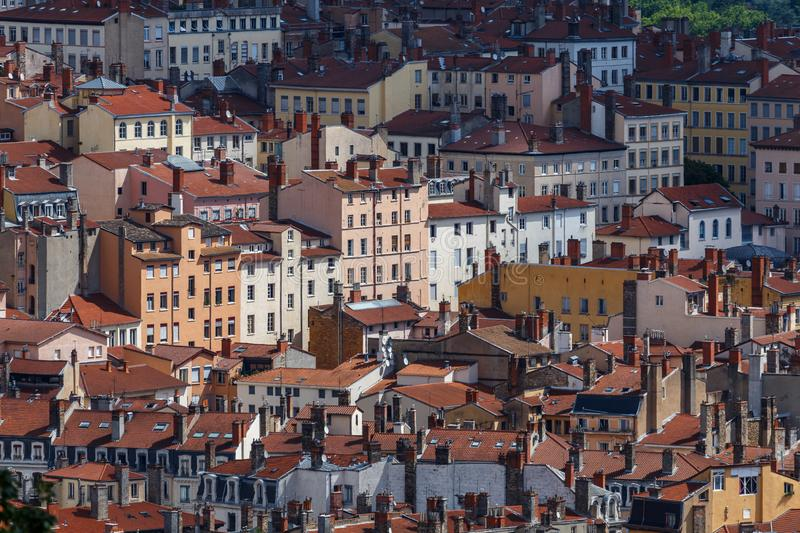 View to living blocks of Lyon royalty free stock image