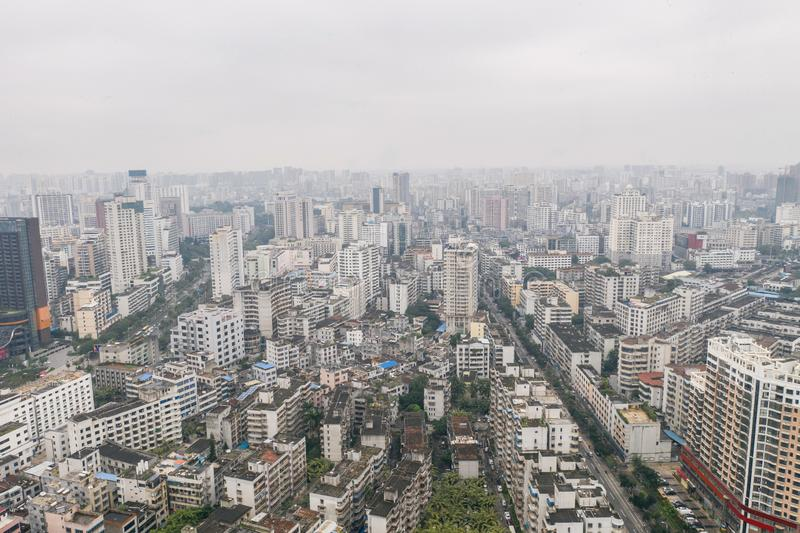 Asian city aerial stock photography