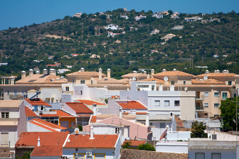 View to Loule, Portugal. View to the town of Loule, Portugal royalty free stock image