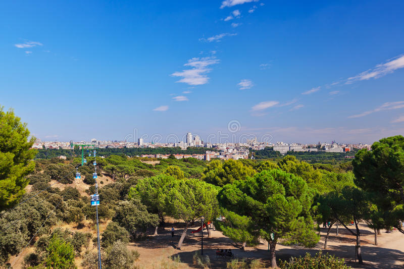 View To Madrid Spain Stock Photo