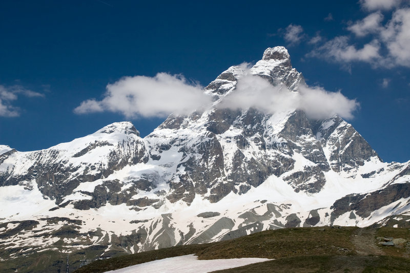 View to Matterhorn (Italian Alps) royalty free stock images
