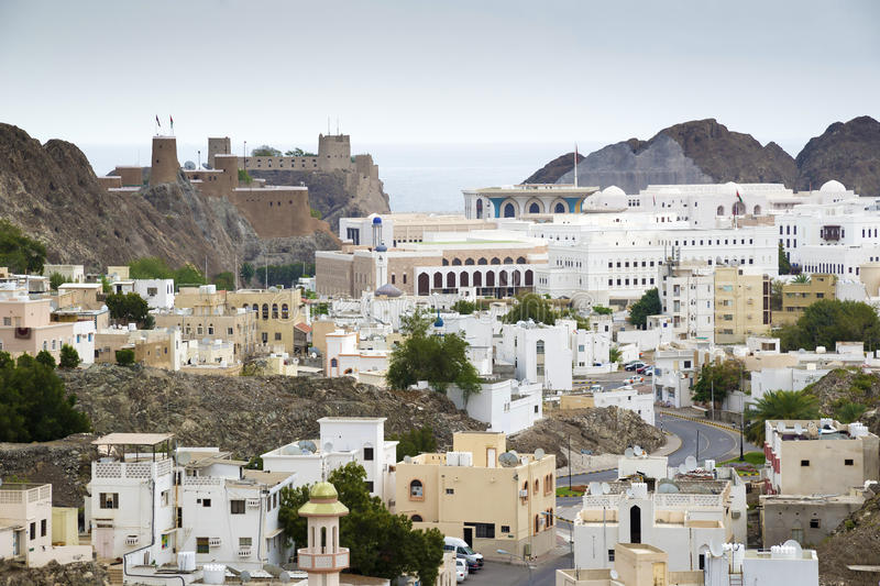 View to Muscat royalty free stock images