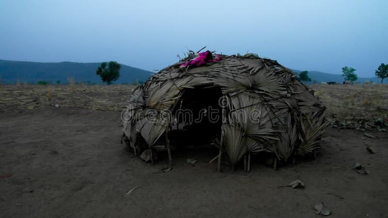 View to nomadic Wodaabe aka Mbororo tribe village, Poli, Cameroon royalty free stock photo