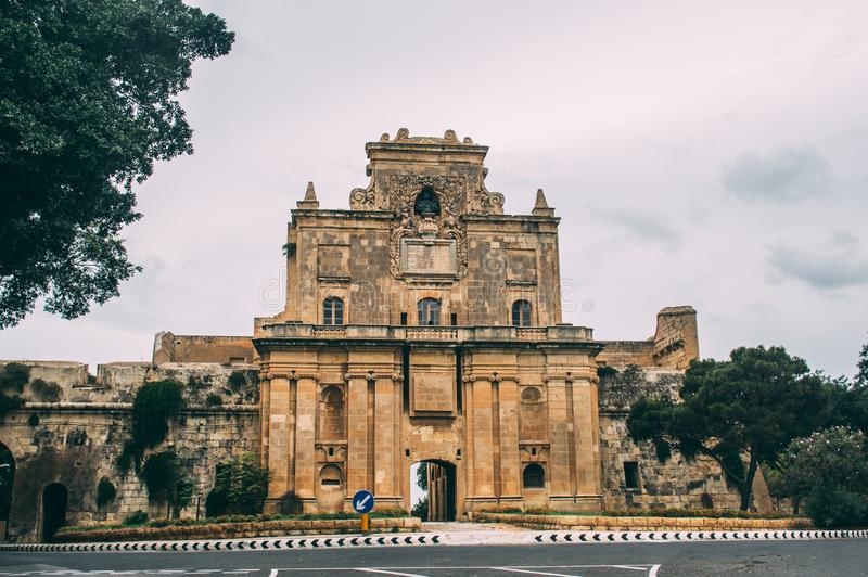 View to Notre Dame Gate, Malta. View to Notre Dame Gate,  Malta stock photo