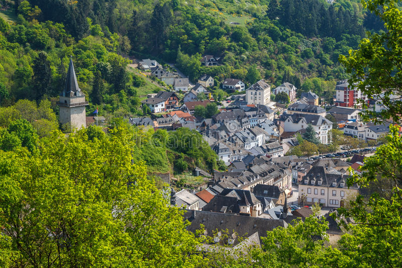 View to the old historic town Vianden royalty free stock photo
