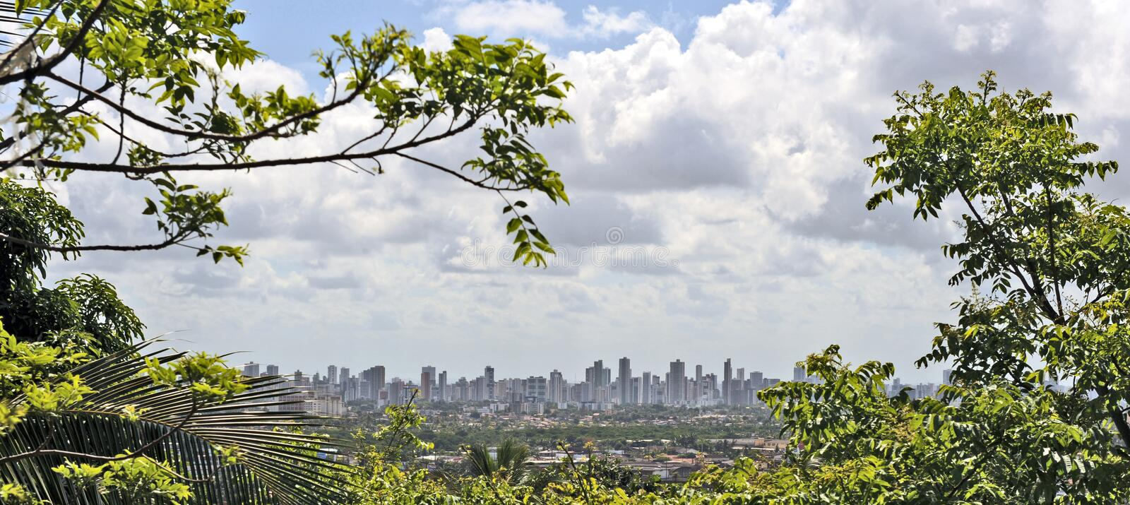A view to Recife royalty free stock photography