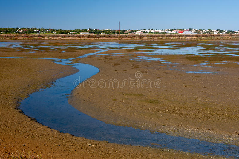 View to Ria Formosa Natural Park, Portugal. View to Ria Formosa Natural Park, Algarve, Portugal stock images