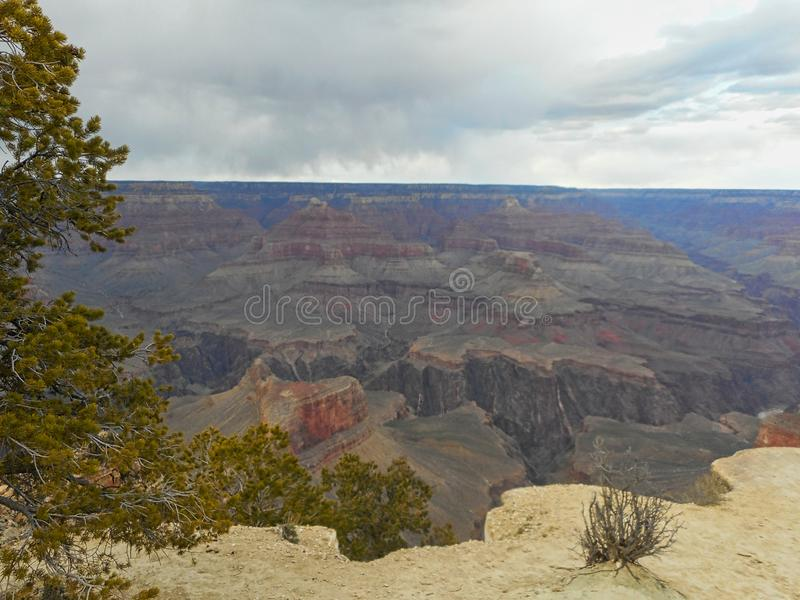 view to the rocks in the grand canyon royalty free stock image