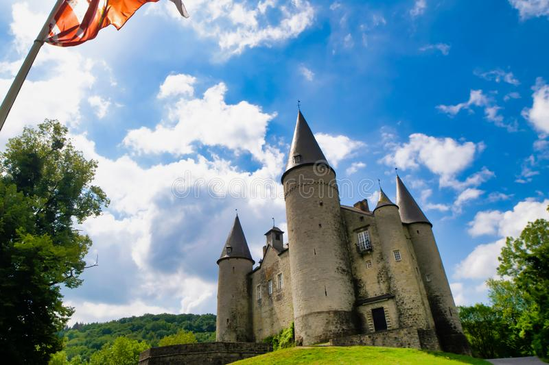 Ancient castle of Veves in Belgium royalty free stock photos