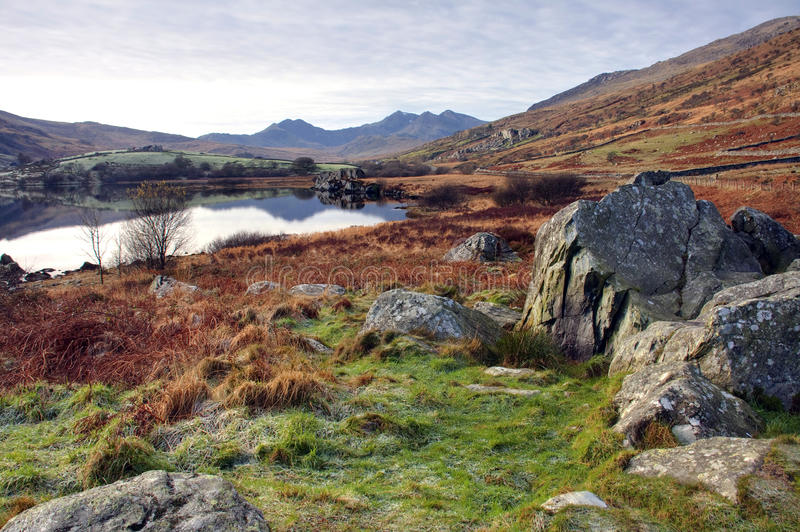 Download View to Snowdon stock photo. Image of view, winter, welsh - 12729928