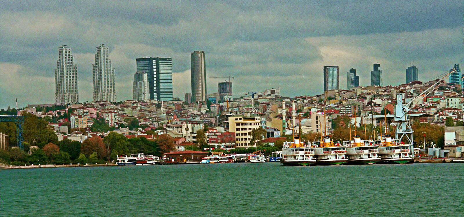 View to Stambul towers royalty free stock images