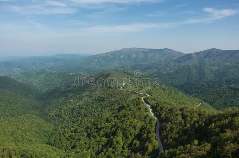 View to Stara planina mountain massif in the south-eastern Serbia from Babin Zub, Serbia. stock photography