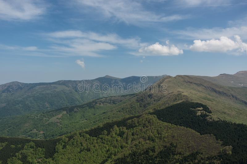 View to Stara planina mountain massif in the south-eastern Serbia from Babin Zub, Serbia. stock photos