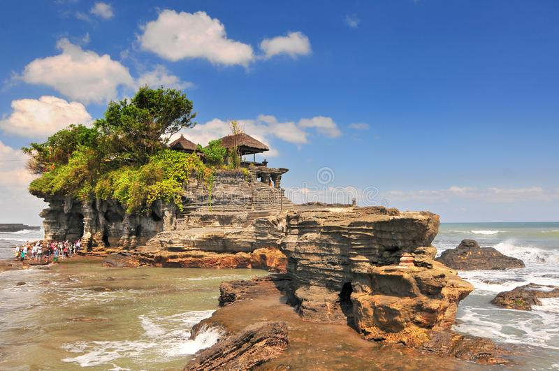 View to the Tanah Lot temple. Bali island, Indonesia.  royalty free stock photos