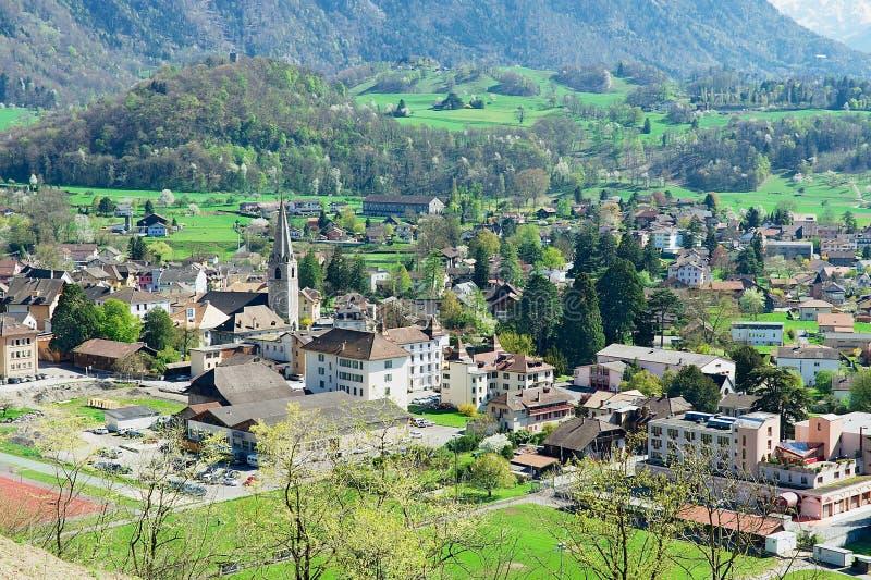 View To The Town Bex canton Vaud In Bex Switzerland Editorial