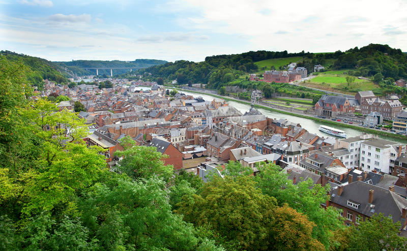 View to the town of Dinant royalty free stock photos