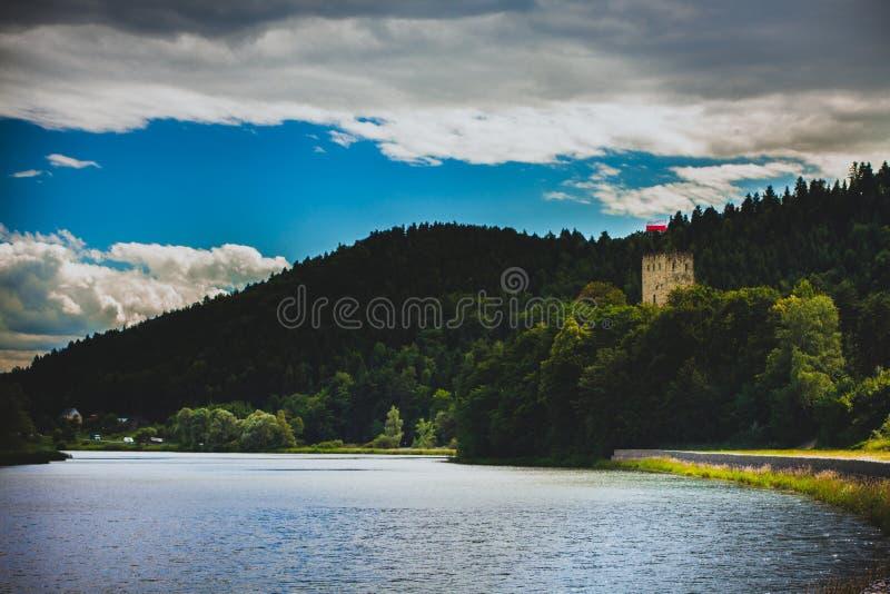 View to Tropsztyn Castle, South of Poland. View to the Tropsztyn Castle, South of Poland royalty free stock photo