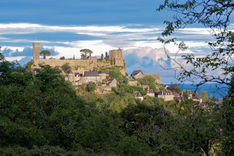 Turrene castle in France royalty free stock images