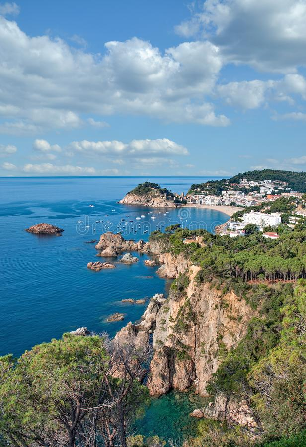 Tossa de Mar,Costa Brava,Catalonia,Spain stock photo
