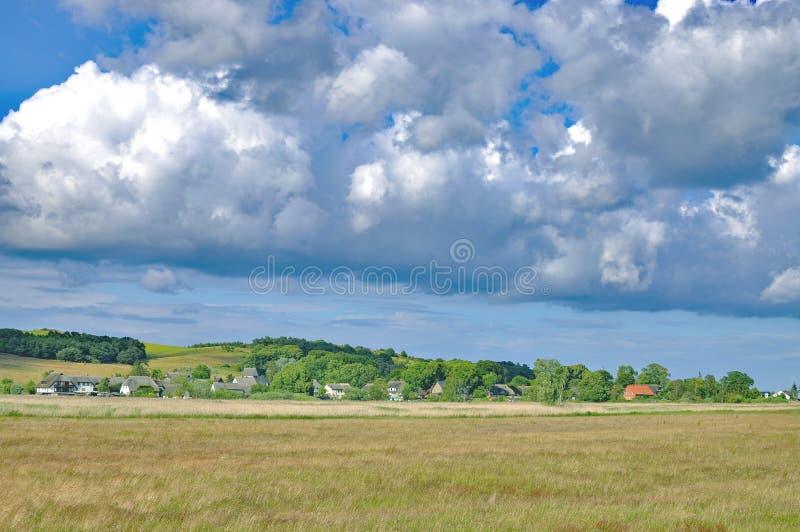 Village of Gross Zicker,Ruegen,baltic Sea,Germany royalty free stock images