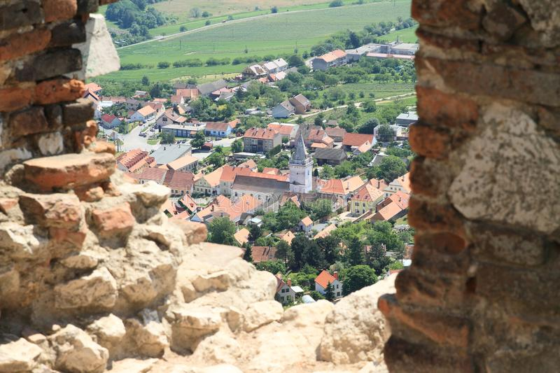 View from Castle Devicky on Palava stock photos
