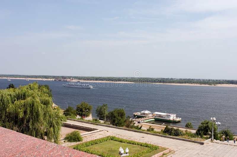 View To The Volga River Volgograd Russia Stock Image Image Of - The volga river