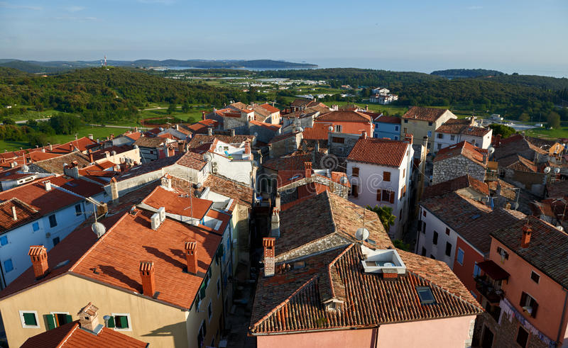 View to Vrsar from above -Istria,Croatia royalty free stock image