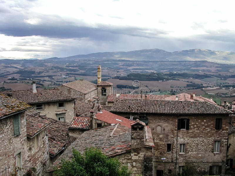 View from Todi, Italy. View from Todi, in the Umbria region of Italy stock images